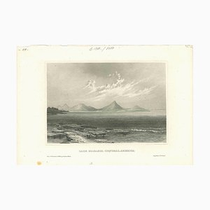Unknown, Ancient View of Lake Managua, Original Lithograph, Early 19th Century