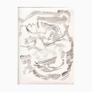 Unknown, Abstract Poetic Composition, Original Etching and Drypoint, Mid-20th Century