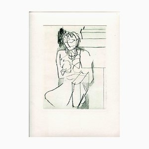 Unknown, Nude, Original Etching and Drypoint, Mid-20th Century