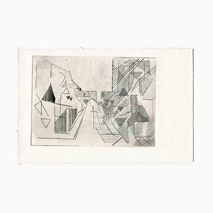 Unknown, City of Future, Original Etching and Drypoint, Mid-20th Century