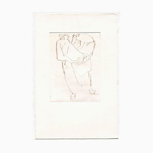 Unknown, Figures, Original Etching and Drypoint, Mid-20th Century