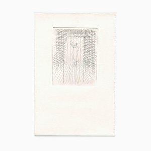 Unbekannt, Einsamkeit, Original Radierung und Kaltnadel, Mitte 20. Jh