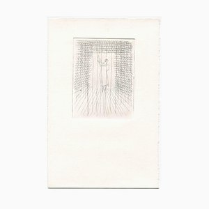 Unknown, Loneliness, Original Etching and Drypoint, Mid-20th Century