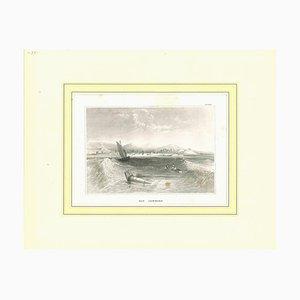 Unbekannt, Antike Ansicht von Rio Janeiro, Original Lithographie, Frühes 19. Jh