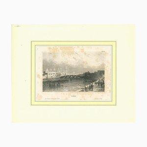 Unbekannt, Antike Ansicht von Lima, Original Lithographie, Frühes 19. Jh