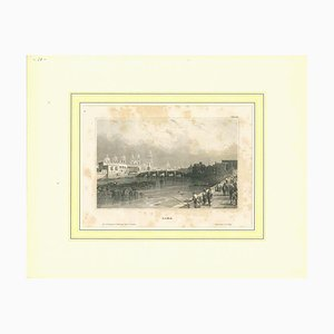 Unknown, Ancient View of Lima, Original Lithograph, Early 19th Century