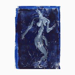 Unknown, Nude Figure, Original Lithograph, Mid-20th Century