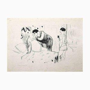 Marcel Vertès, An Unexpected Visit, Litografia originale, 1920