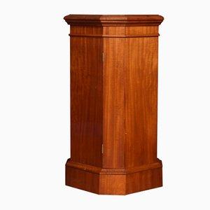 Mahogany Hexagonal Pedestal Cabinet