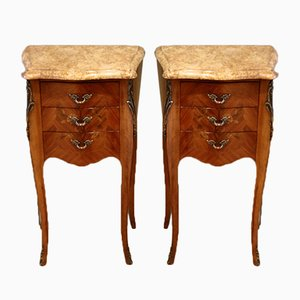 Tulipwood and Mahogany Bedside Cabinet