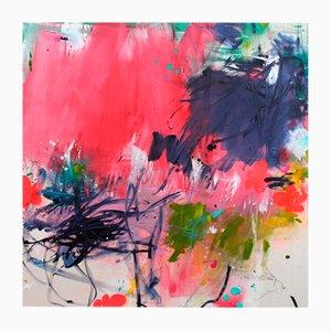 Blumenwiese II, abstraktes Gemälde, 2021