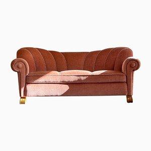 Swedish Art Deco Curved Sofa, 1930s