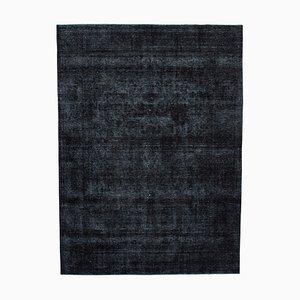 Black Overdyed Large Area Rug