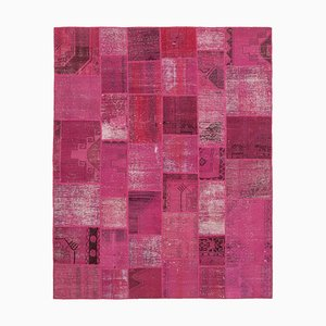Tappeto patchwork rosa