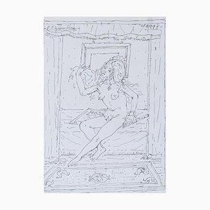Emile-François Chambon, Jeune femme nue à la flûte, 1991
