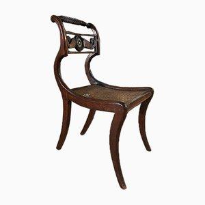 Antike Regency Stühle aus Palisander & Schilfrohr, 4er Set