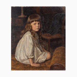 Lilli Lundsteen, Portrait eines Mädchens in einem weißen Kleid