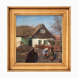Axel Johansen, Scena rurale con bambini che giocano
