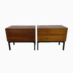 Danish Bedside Tables, Set of 2