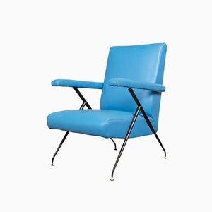 Italian Blue Reclining Armchair, 1960s