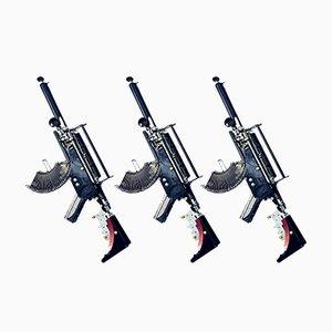Escultura The Remington Trilogy vintage de la serie Machine Gun, 2021. Juego de 3