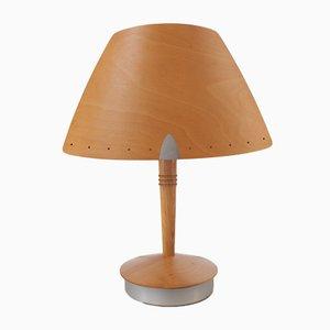 Französische Vintage Holz Lampe von Lucid