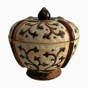 Scodella o vaso in terracotta con coperchio, XX secolo