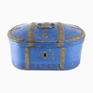 Caja de viaje vintage con cerradura, años 20