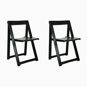 Vintage Trieste Folding Chairs by Aldo Jacober for Bazzani, Set of 2