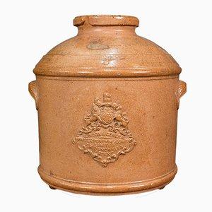 Filtro purificador de agua inglés victoriano antiguo de cerámica, década de 1870