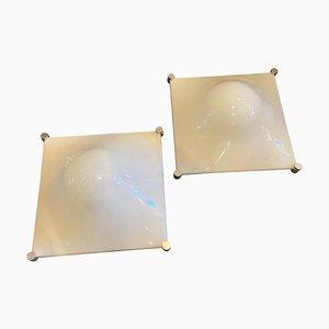 Lámparas de pared Bolla era espacial de Elio Martinelli, años 60. Juego de 2