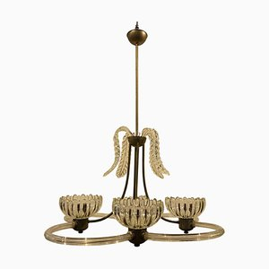Mid-Century Modern Murano Glass Chandelier from Barovier & Toso, 1950s