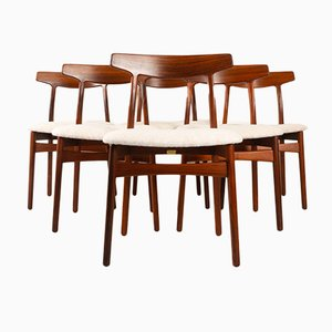 Rosewood Dining Chairs by Henning Kjærnulf for Bruno Hansen, 1960s, Set of 6