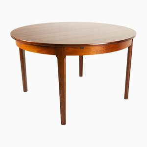 Vintage Danish Extendable Round Rosewood Dining Table, 1960s