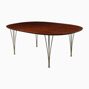 Mesa de comedor elíptica de Piet Hein, años 60