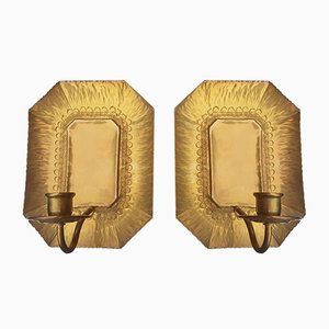 Brass Blaker Wall Candleholder from Walther, Set of 2