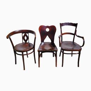Chaises de Jacob & Josef Kohn, 1910, Set de 3