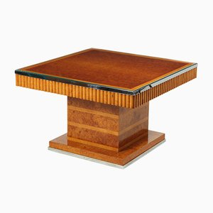 Art Deco Coffee Table in Amboyna and Sycamore