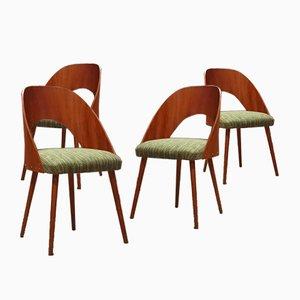 Stühle von Antonin Suman für Drevopodnik Pisek, 4er Set