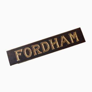 Spätes viktorianisches Fordham Schild