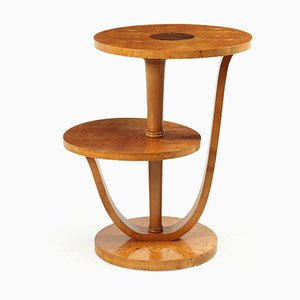 French Art Deco Karelian Birch Occasional Table