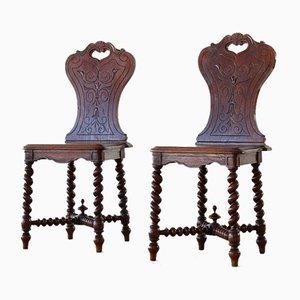 Barley Twist Hall Chairs, Set of 2