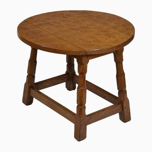 Vintage Yorkshire Drop Leaf Occasional Table with Adzed Top in Oak