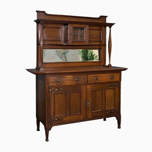 Large Antique English Victorian Cabinet in Oak from Liberty & Co