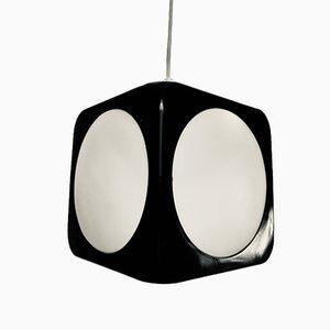 Lámpara de techo era espacial en negro de Lars Schöler para Hoyrup Lamper, años 70