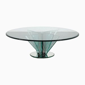 Nile Glass Coffee Table Attributed to Pietro Chiesa for Fontana Arte, Italy, 1970