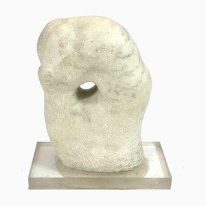 Escultura Ofelia de mármol con base acrílica de Maria Osvath, años 70