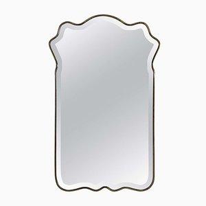 Mid-Century Brass Free-Form Mirror