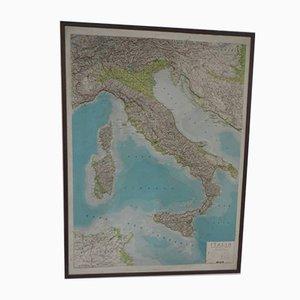 Mapa italiano en relieve, años 70