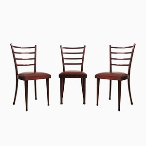 Mahogany Chairs, 1950s, Set of 3